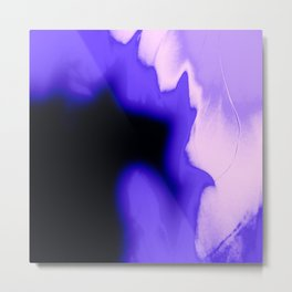 Fire Purple Metal Print