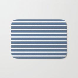 Blue and White Nautical Beach Stripes Beach Fashion Bath Mat