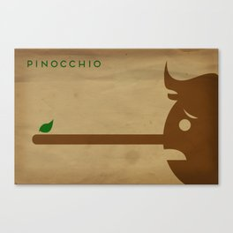 Pinocchio Minimalist Fairytales Canvas Print