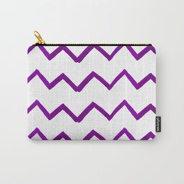 Hand painted purple white watercolor geometrical chevron Carry-All Pouch