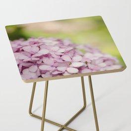 Pink Hydrangea Side Table