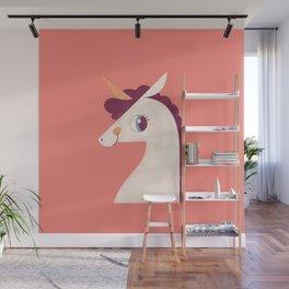Minimal Unicorn Wall Mural