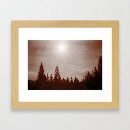 Pinprick Sun Framed Art Print