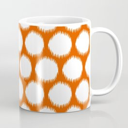 Persimmon Asian Moods Ikat Dots Coffee Mug