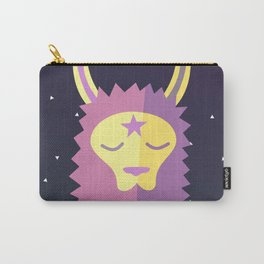 Yacana: The Space Llama Head Carry-All Pouch