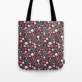 Flowers and Vines Pattern Tote Bag