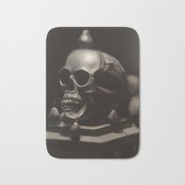 Skull with Pears Bath Mat