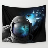 big bang Wall Tapestries featuring Big Bang by angrymonk