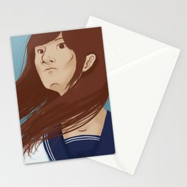 Serafuku Girl Stationery Cards