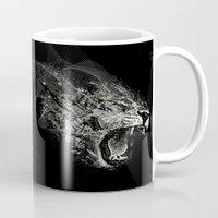 fierce Mugs featuring Fierce by Ismael Sandiego