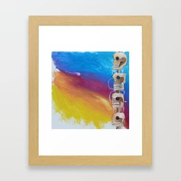 Untitled #98 Chichen Itza Skull Framed Art Print
