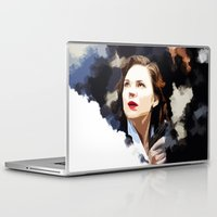 peggy carter Laptop & iPad Skins featuring Peggy Carter by Ms. Givens