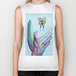 American Sign Language BUTTERFLY Biker Tank