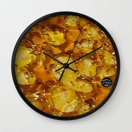 Golden Shatter Wall Clock