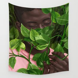 Green Mask Wall Tapestry