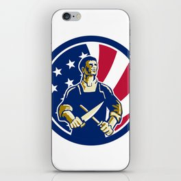 American Butcher USA Flag Icon iPhone Skin