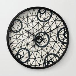 Black and White Circular Pattern Abstract Geometric Art Print Photograph Wall Clock