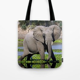 Elephants in the water - Africa wildlife Tote Bag