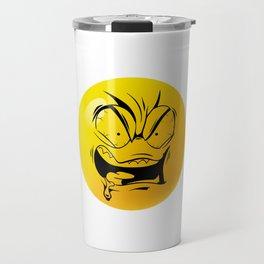 Crazy Furious Smiley Travel Mug