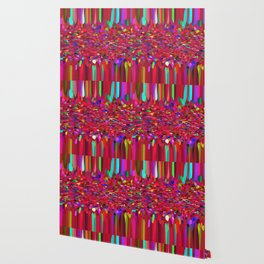 Confetti Fringe in Red Wallpaper