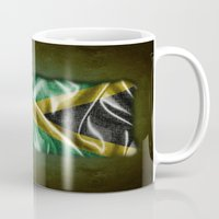 jamaica Mugs featuring Jamaica flag by DesignAstur