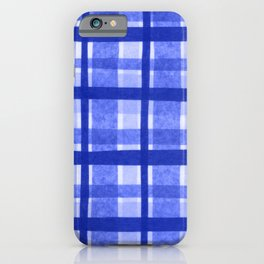 Tissue Paper Plaid - Blue iPhone Case