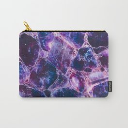 Purple mineral texture detail Carry-All Pouch