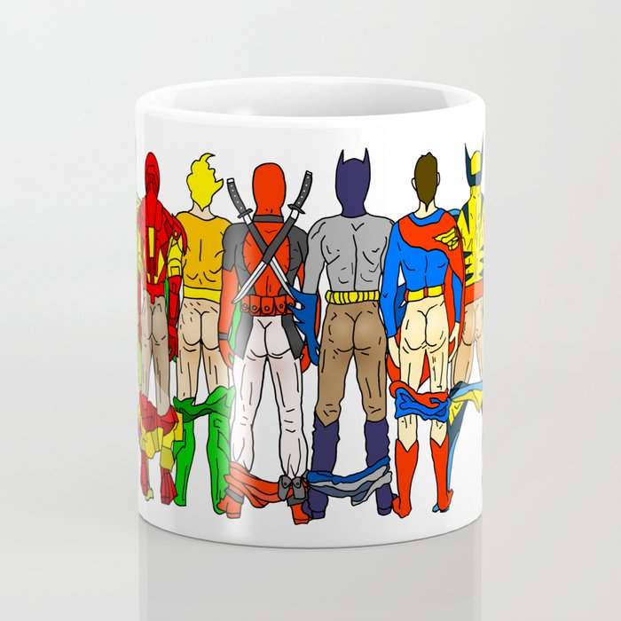 Superhero Butts Kaffeebecher