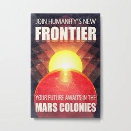 Mars Colonization Retro-Futurist Propaganda Metal Print