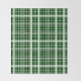 Christmas Tree Green Tartan Plaid Check Throw Blanket