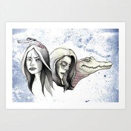 Greying Forward Art Print
