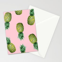 Pineapples & Pink Stationery Cards