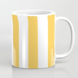 yellow and white retro u stripes Coffee Mug