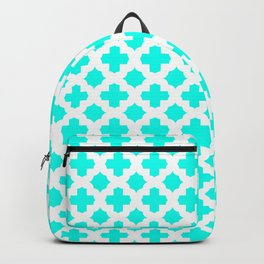 Stars & Crosses Pattern: Turquoise Backpack