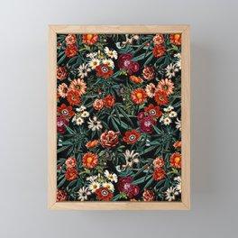 Marijuana and Floral Pattern Framed Mini Art Print