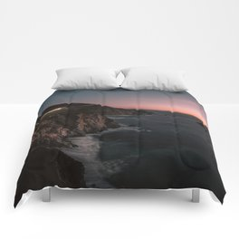 Big Sur Sunset Comforters