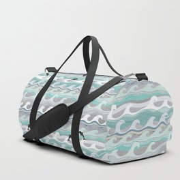dolphins and waves Duffle Bag