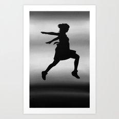 Body Movin - Jump BW Art Print