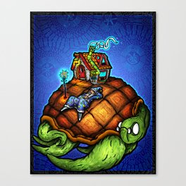 The Wizard and The Turtle Canvas Print
