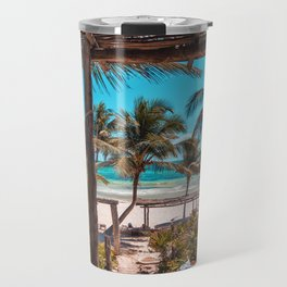 Cabana view of the Beach (Color) Travel Mug