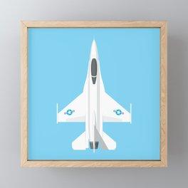 F-16 Falcon Fighter Jet Aircraft - Sky Framed Mini Art Print