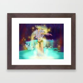 The watercourse Nymph Framed Art Print
