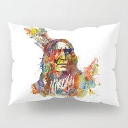 Chief Mojo Watercolor Pillow Sham