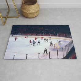 Vintage Hockey Match Rug