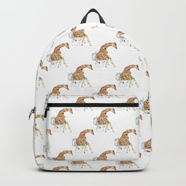 Giraffe toilet Painting Wall Poster Watercolor Backpack