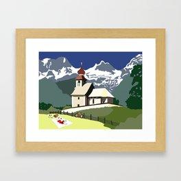 Auer Church Austrian Picnic Framed Art Print
