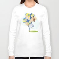 football Long Sleeve T-shirts featuring Football by Dues Creatius