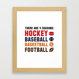 Four Seasons Sports Framed Art Print