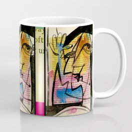 """Funky Face Abstract, """"I See 32"""" by Kathy morton Stanion Coffee Mug"""