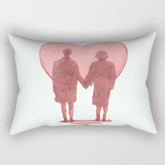 fight club ending Rectangular Pillow